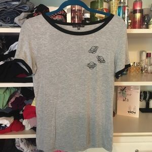 NWOT Gray Urban Outfitters Embroidered Space Tee